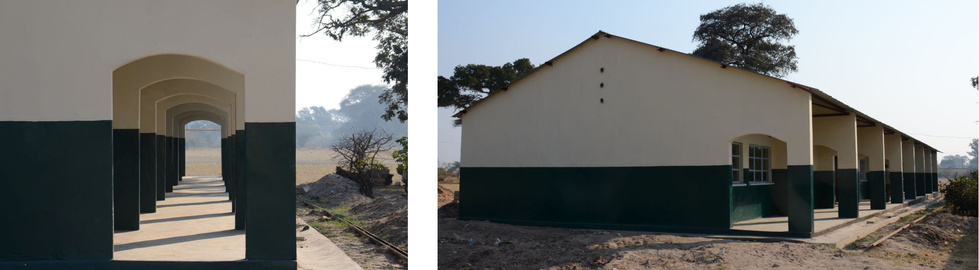 August 2015: The new 1x3 classroom block