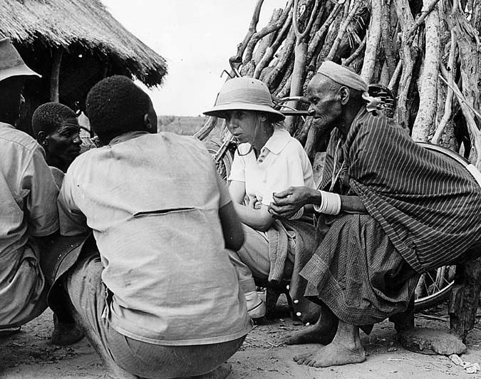 Elizabeth Colson during her work among the Tonga People