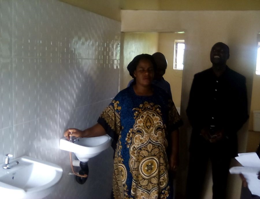 Inauguration of the new sanitary facilities of the boarding