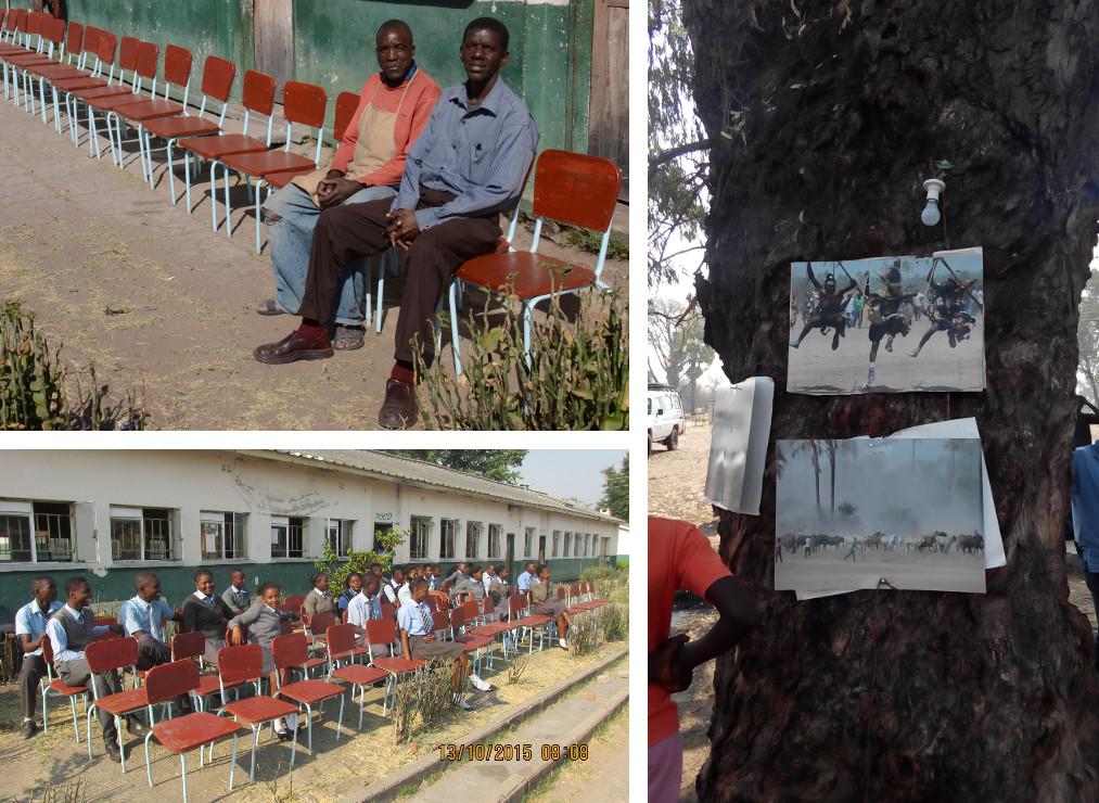 Reparierte Stühle, Shimunenga-Zeremonie