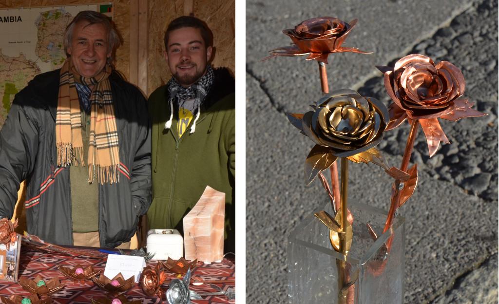 Hannes and Elias (left), Elias' roses
