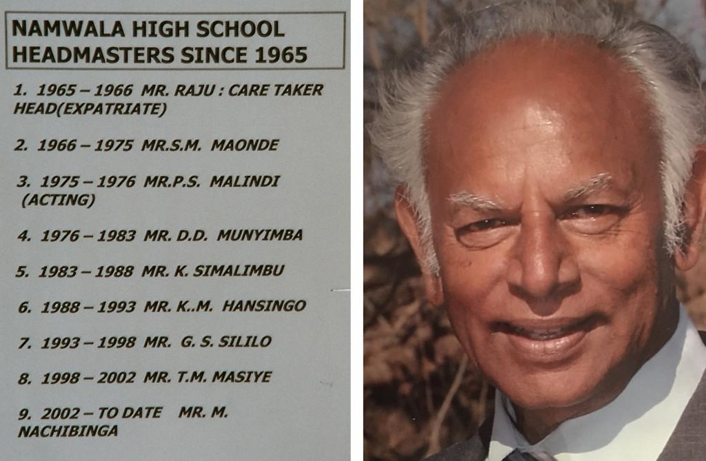 Rector list (left), Mr. Raju